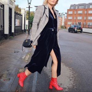 Red Topshop boots